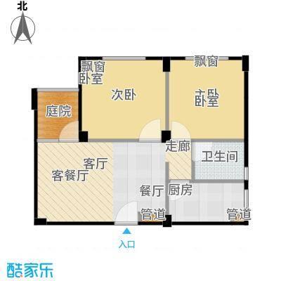 鑫瑞小城故事64.08㎡户型
