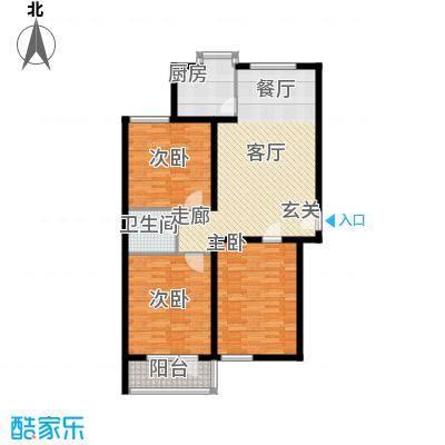 神奇庭院户型3室1厅1卫1厨