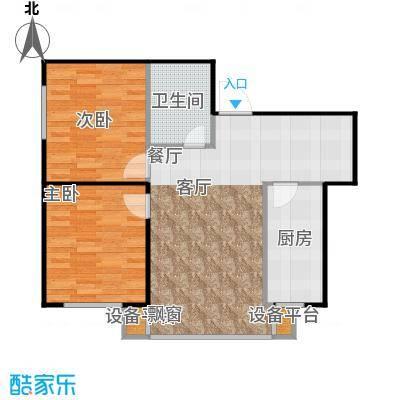 幸福岛85.00㎡房型户型