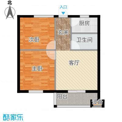 聚贤雅苑65.00㎡房型户型