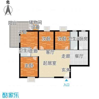 曲江雁唐府邸150.72㎡A型结构户型