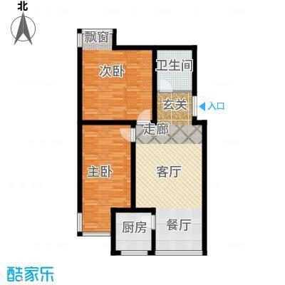 龙江秀水园81.47㎡B5户型