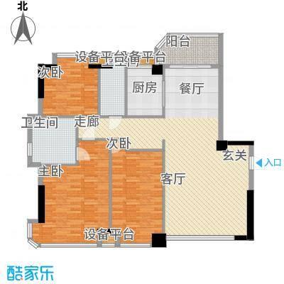 世纪广场户型3室1厅2卫1厨