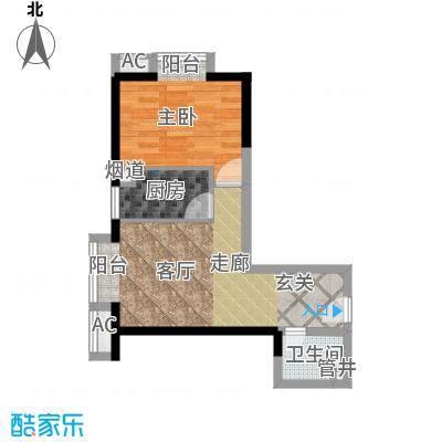 丹枫国际44.00㎡户型
