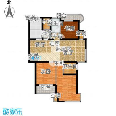 新港名仕花园121.00㎡房型户型