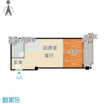 东城国际公寓917单位户型