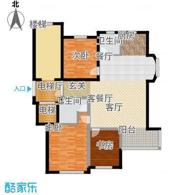假日兰庭户型3室1厅2卫