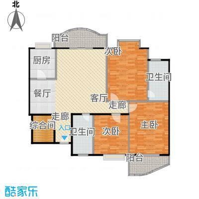 东方江景园124.90㎡房型户型