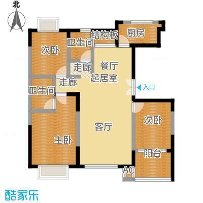 水印康庭102.00㎡房型户型