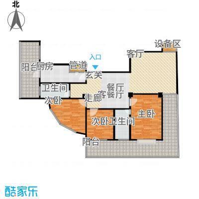 迎江华庭134.98㎡房型户型