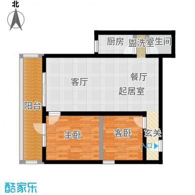 黄桷印象户型2室1卫1厨
