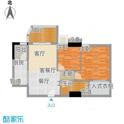 雅居乐君域公馆82.00㎡D户型