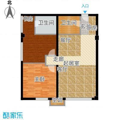 中齐未来城90.00㎡公寓套间户型