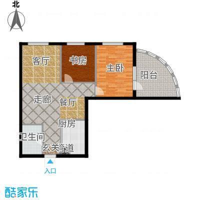 东方星海户型2室1厅1卫1厨