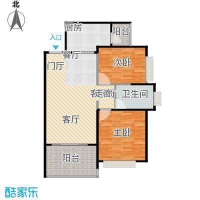 恒大绿洲96.84㎡11-14号楼2单元两室户型