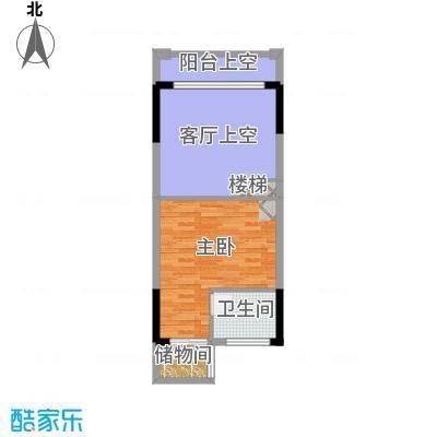 敏捷领航公馆58.00㎡C上层图户型