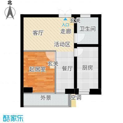 景祥苑53.59㎡Q户型