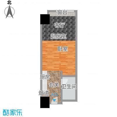 敏捷国际公寓58.00㎡815单元户型