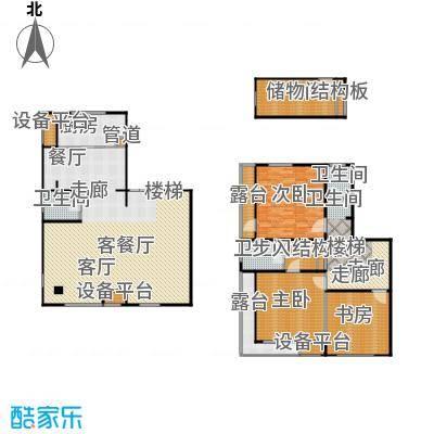 万科新榆公馆二期住宅二层半复式户型