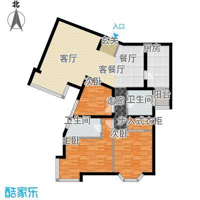 城建花园户型3室1厅2卫1厨