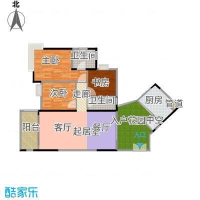 东银广场户型3室2卫1厨