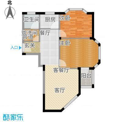 聚贤雅苑82.00㎡房型户型