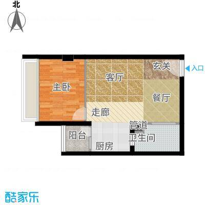 万安国际公寓户型1室1厅1卫