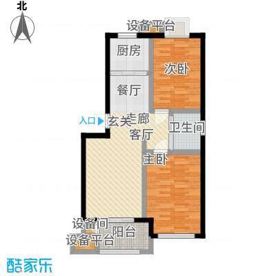乾和福邸68.24㎡一期3号楼1-3层C3户型