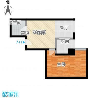 紫雁朗庭43.00㎡户型