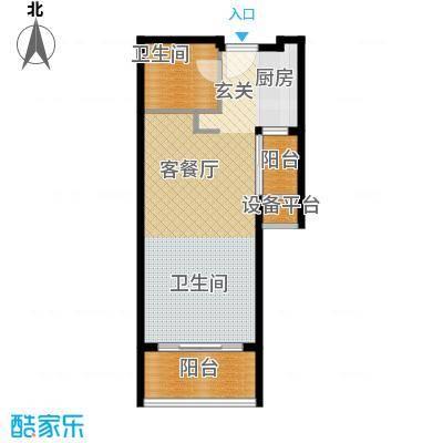 佛奥康桥水岸48.33㎡国际公寓A双阳台--户型