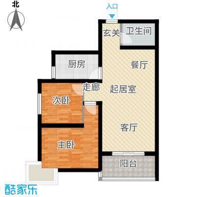 华宇上领国际公寓88.04㎡3#和4#B户型