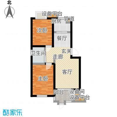 乾和福邸68.24㎡一期5号楼1-5层A5户型