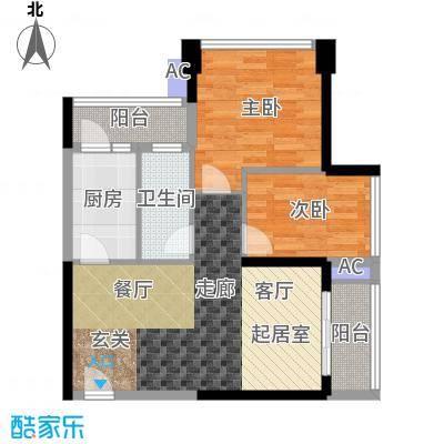 鸿基花园二期B栋03、06单元2室户型
