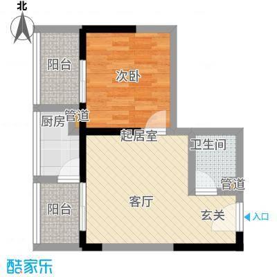 佳铭东郡48.06㎡户型