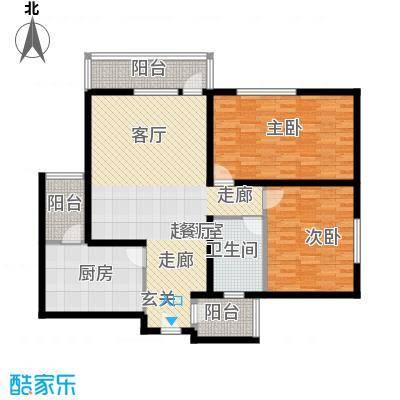 兴庆丽景户型2室1卫1厨
