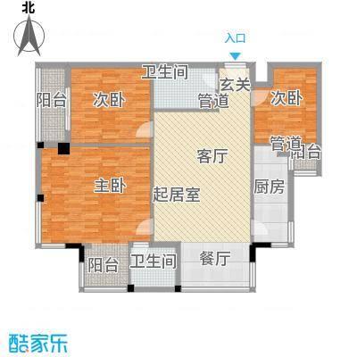 紫雁朗庭114.34㎡户型