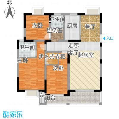 国信・阅景龙华户型3室2卫1厨