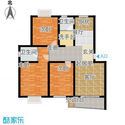旭升花苑户型3室2卫