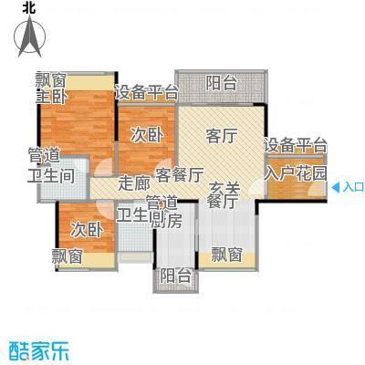 尚城国际88.10㎡A-1栋03户型