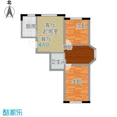 中顺和苑89.07㎡二期户型