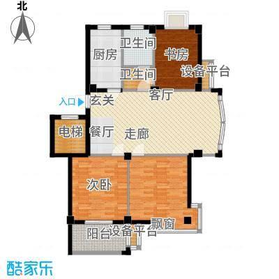 君悦龙庭106.00㎡A户型