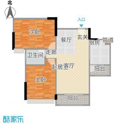 广电江湾新城91.00㎡27栋B户型