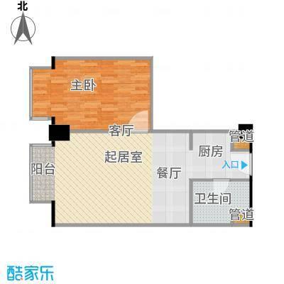 长江国际公寓64.00㎡户型