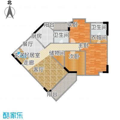 宏润巴塞阳光118.32㎡A-1号楼-12D户型