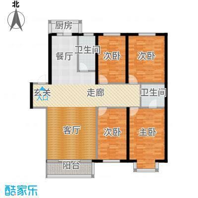 世众宏厦家园137.00㎡房型户型