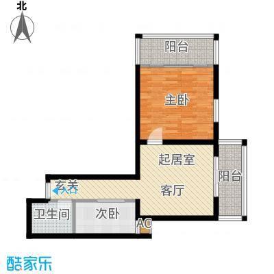 华宇上领国际公寓76.67㎡2#B户型