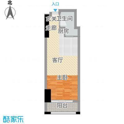 新中源国际商务公寓53.00㎡1座09/10单元户型