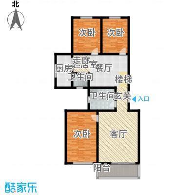 灞柳生态家园150.89㎡西航花园东区46号楼户型