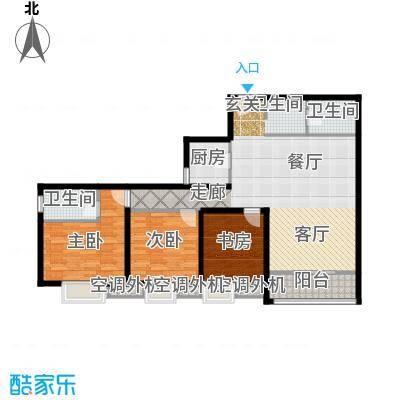 辰龙广场户型3室1厅2卫1厨