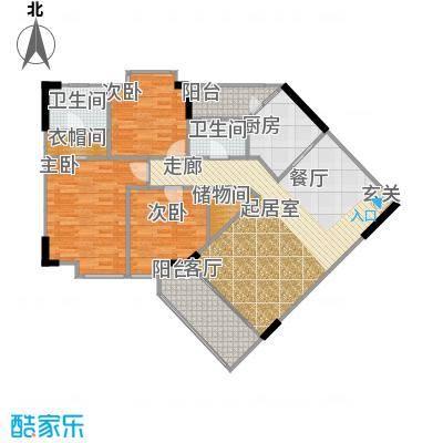 宏润巴塞阳光125.30㎡A-1号楼-12C户型